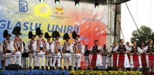 Auftritt des rumänischen Folkloreensembles