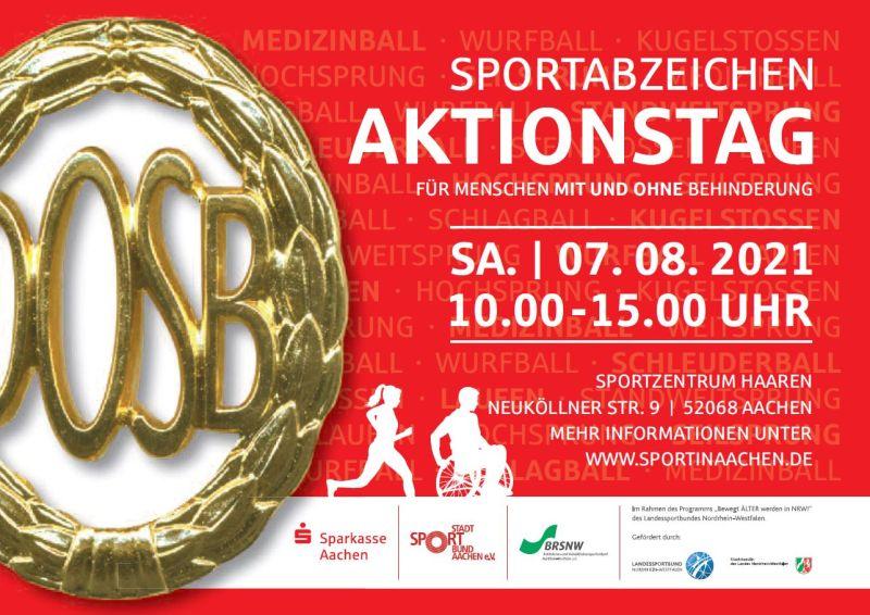 Sportabzeichen-Aktionstag für Menschen mit und ohne Behinderung in Aachen
