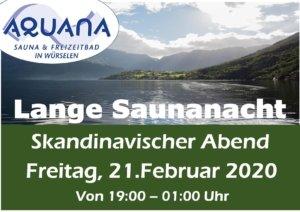 Saunanacht im Aquana