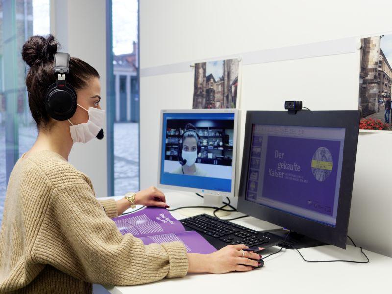 Digitale Live-Führung im Centre Charlemagne Aachen