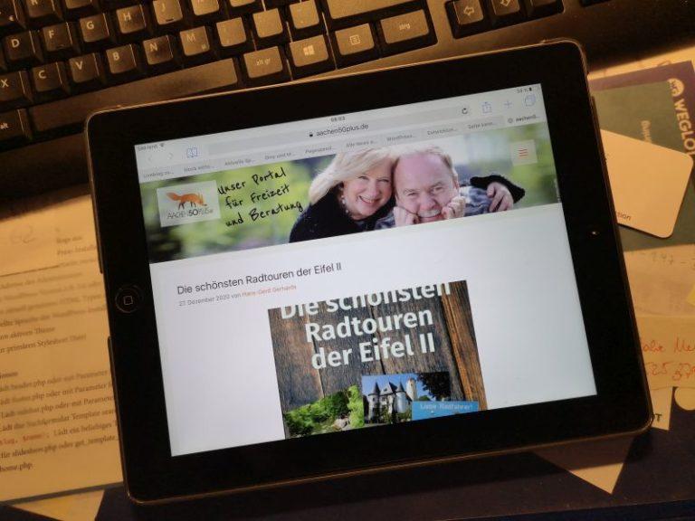 Mitarbeiten bei aachen50plus.de - Relaunch