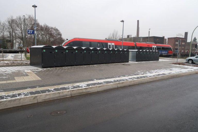 Zwanzig weitere Fahrradboxen am Stolberger Hauptbahnhof
