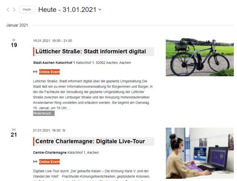 Online-Veranstaltungen und Online Events