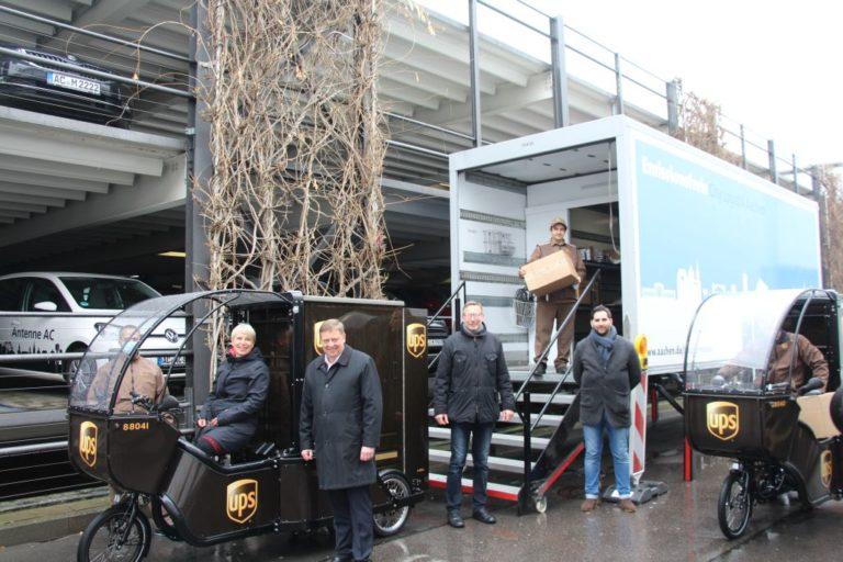 Pakete werden in Aachen umweltfreundlicher zugestellt
