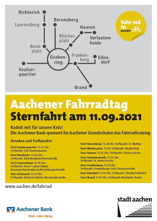 Aachener Fahrradtag - Sternfahrt
