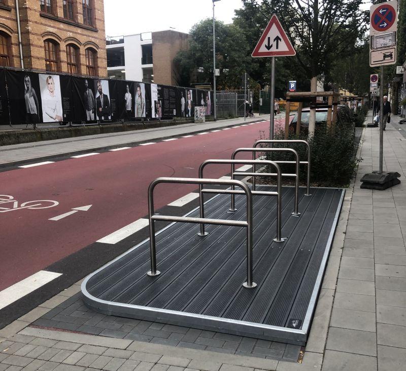"""Lothringerstraße: """"Fahrradflunder"""" sorgt für neue Fahrradparkplätze"""