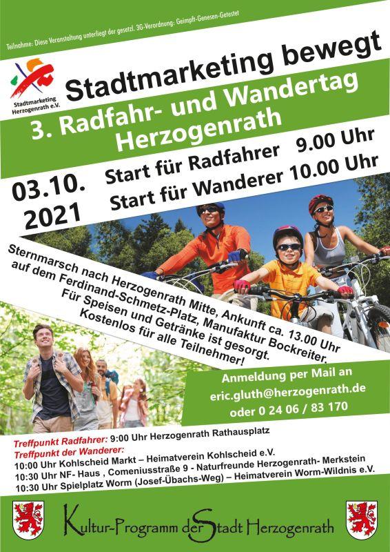 Stadtmarketing bewegt: 3. Herzogenrather Radfahr- & Wandertag